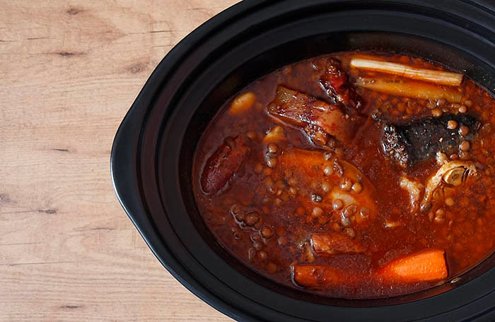 Receta de lentejas en Crock Pot