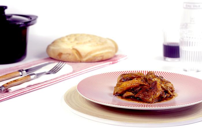 Pollo al ajillo. Recetas de cenas para crock pot