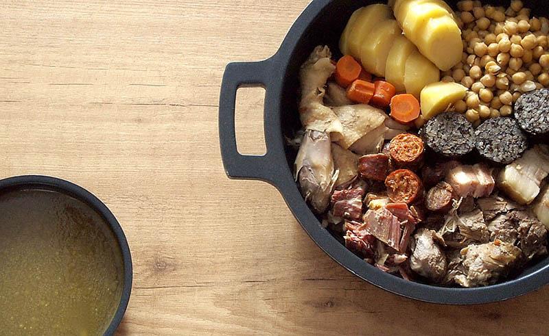 Receta de cocido madrileño en Crock Pot