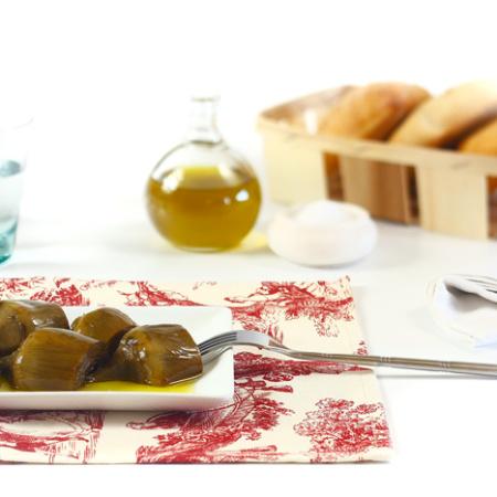 Alcachofas confitadas. Recetas de cenas para crock pot