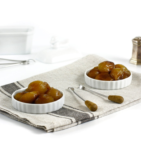 Cebollitas francesas glaseadas. receta para crock pot o slow cooker
