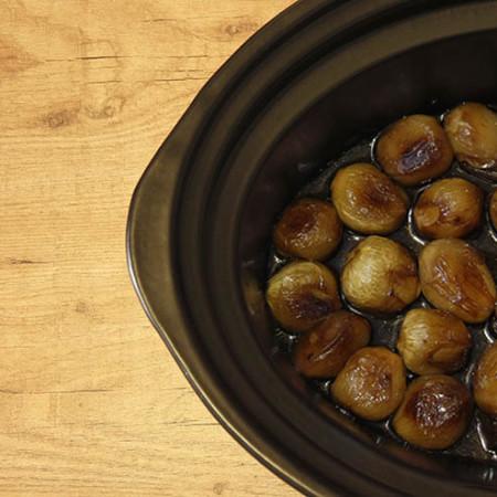 Receta de cebollitas francesas glaseadas en Crock Pot