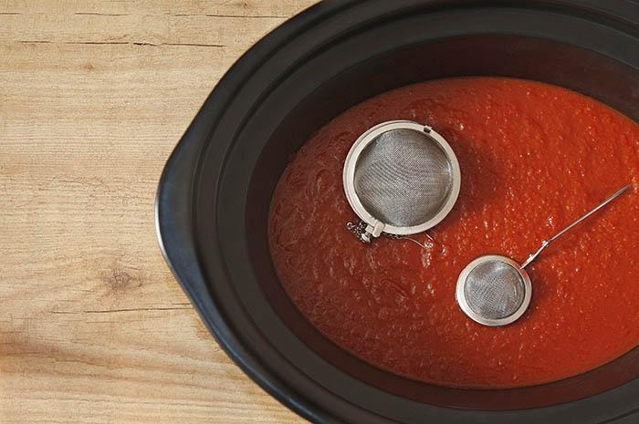 Receta de salsa de tomate en Crock Pot