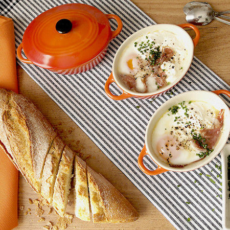 Receta de huevos en cocotte en Crock Pot