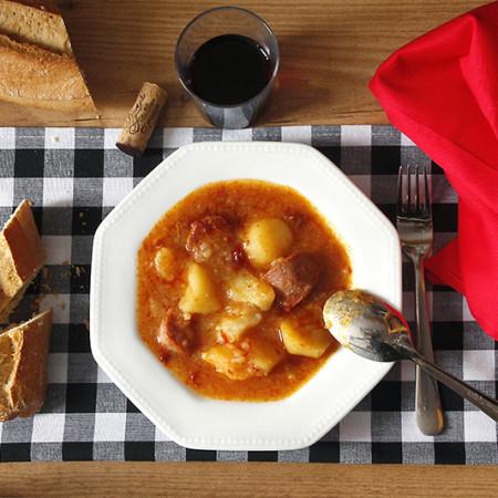 Receta de patatas a la riojana en Crock Pot