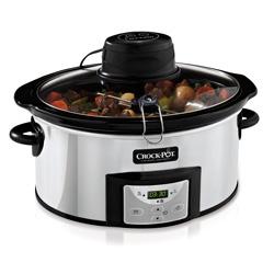 Crock-Pot AutoStir CSC012X - Olla de cocción lenta digital de 5.7 L