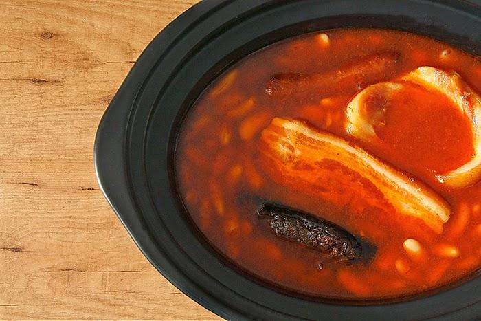 Receta de fabada asturiana en crock pot
