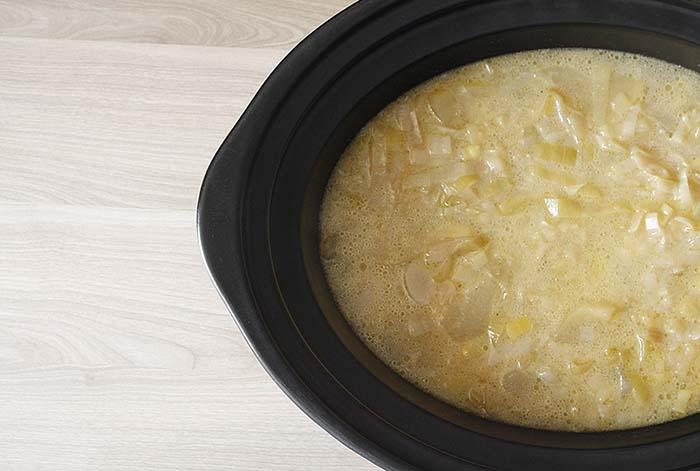Cómo hacer vichyssoise en Crock Pot