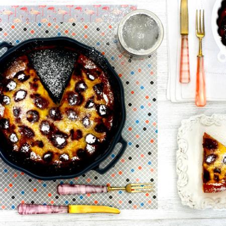 Clafoutis de cerezas. Receta para crock pot o slow cooker