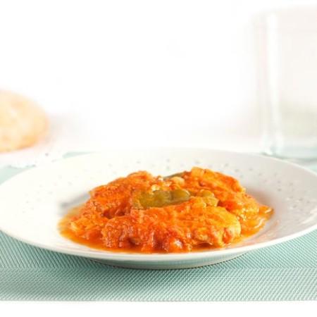 Receta de bonito con tomate en Crock Pot. Recetas de cenas para crock pot