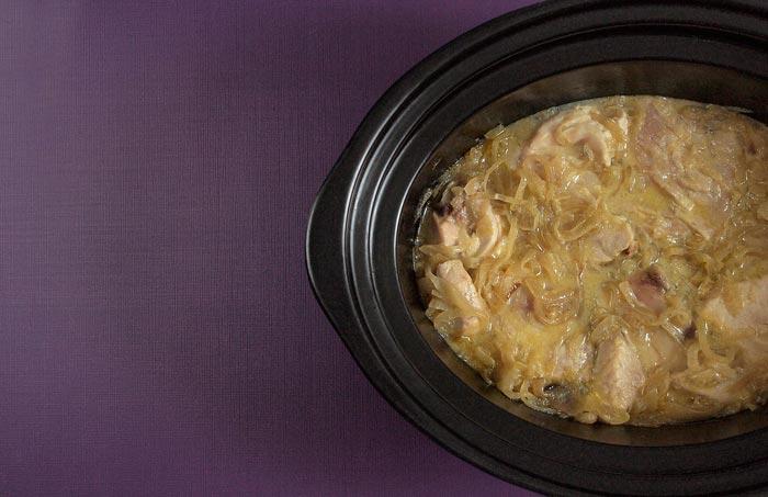 Receta de bonito encebollado en Crock Pot