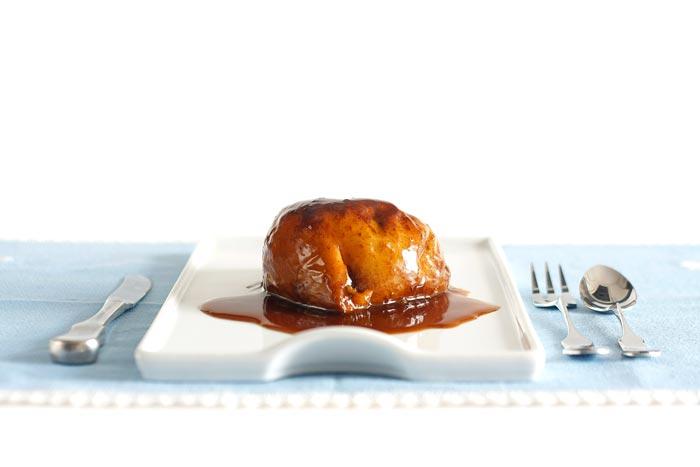 Manzanas asadas al toffe en Crock Pot