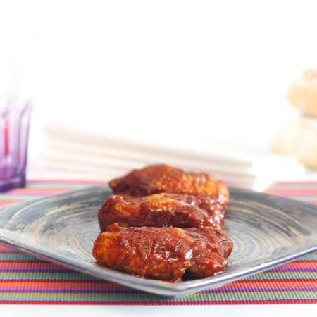 Alitas de pollo a la barbacoa. Recetas de cenas para crock pot