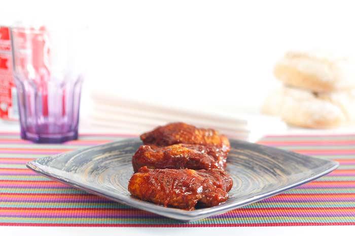 Alitas de pollo a la barbacoa. Receta para Crock Pot