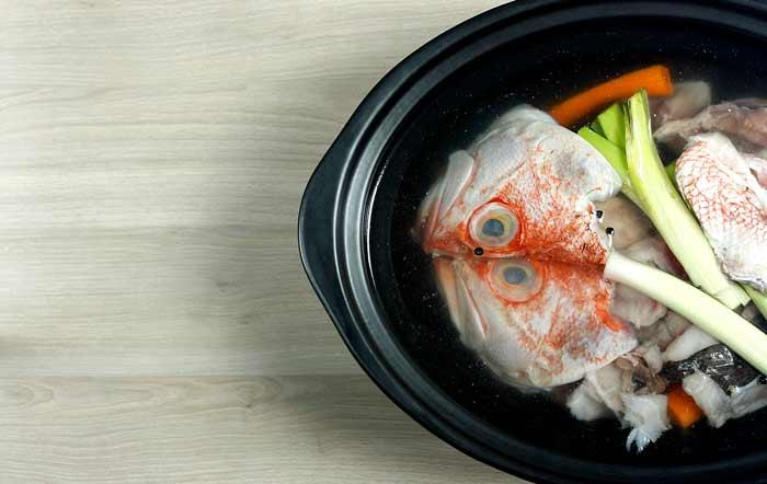 Fumet de pescado. Receta para Crock Pot