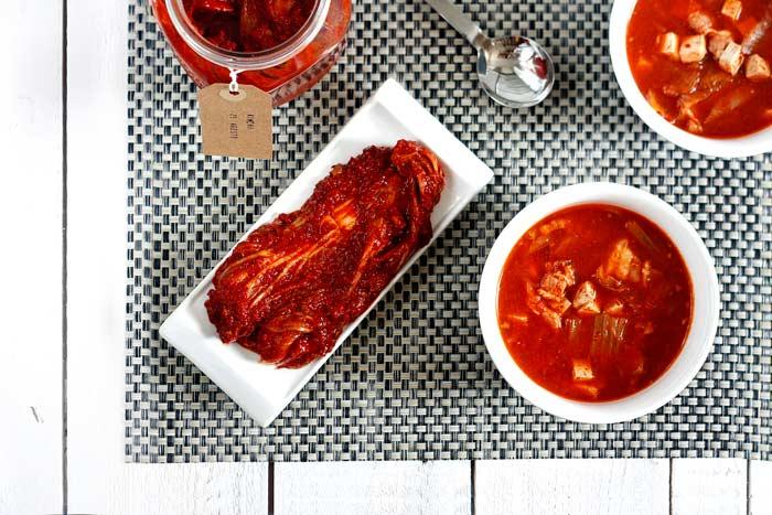 Sopa de kimchi. Recetas de cenas para crock pot