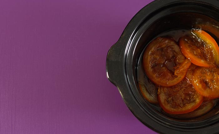 Naranjas confitadas. Receta de Navidad en Crock Pot