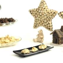 Rocas de chocolate blanco. almendras y jengibre. Receta para Crock Pot