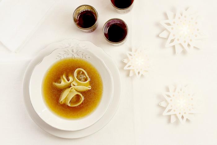 Sopa de galets. Receta de Navidad para Crock Pot