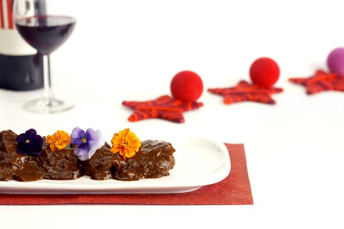 Rabo de ternera al chocolate. Receta de Navidad en Crock Pot