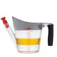 Oxo Good Grips - Jarra de cristal para decantar salsas y grasas (1 L)