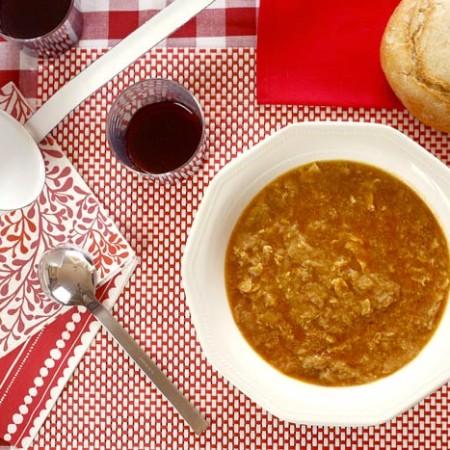 Sopa de ajo. Recetas de cenas para crock pot