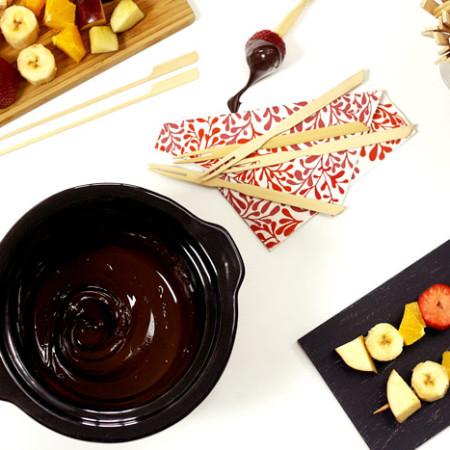 Fondue de chocolate. Receta para Crock Pot