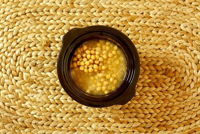 Receta de hummus en Crock pot
