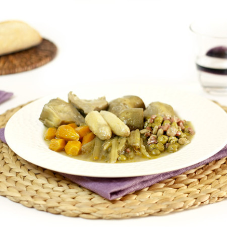 Menestra de verduras. Recetas de cenas para crock pot