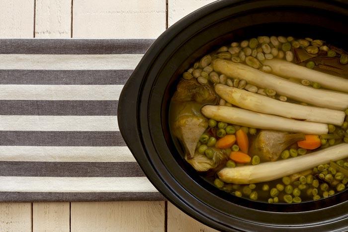 Menestra de verduras. Receta para Crock Pot
