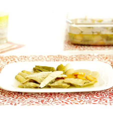 Ensalada de verduras en escabeche. Receta para Crock Pot