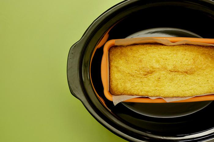 Bizcocho de nata y lima. Receta para Crock Pot