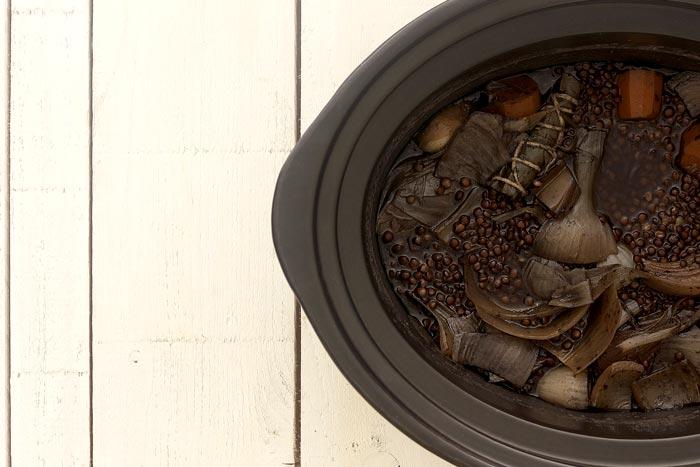 Ensalada de letenjas beluga. Receta para Crock Pot