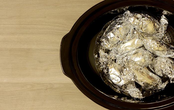 Ensalada de patata y ahumados. Receta para Crock Pot