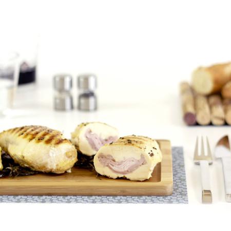 Pechugas de pollo rellenas de lacón. Recetas de cenas para crock pot