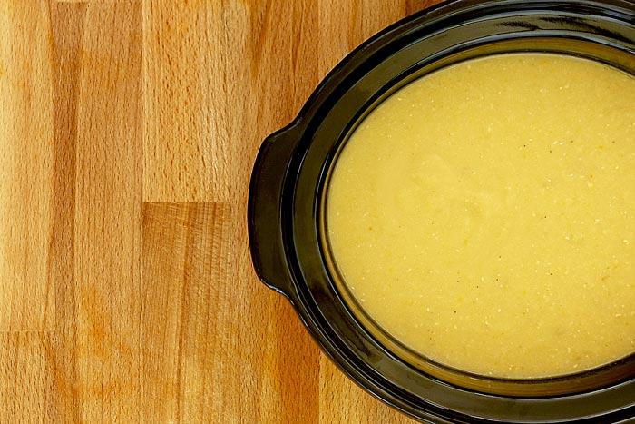 Puré de lentejas amarillas. Receta para Crock Pot
