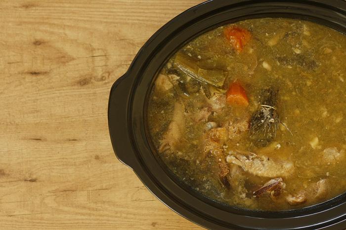 Caldo de gallina. Receta para Crock Pot