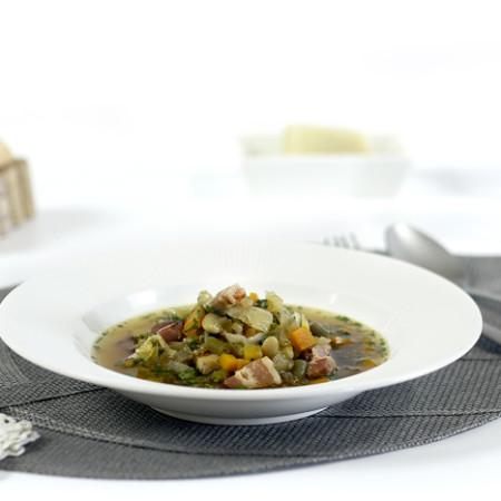 Sopa minestrone. Recetas de cenas para crock pot