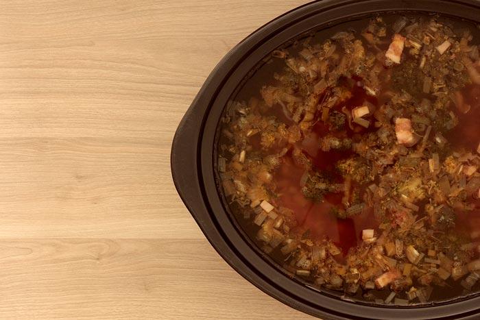Sopa minestrone. Receta para Crock Pot