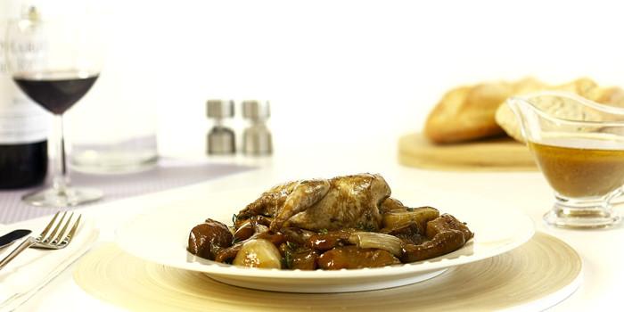 Codornices estofadas con níscalos en Crock Pot