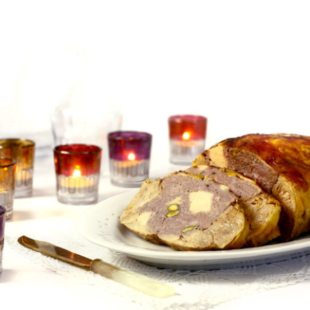 Pollo relleno. Receta de Navidad en Crock Pot
