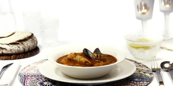 Caldereta de pescado y marisco en crock pot