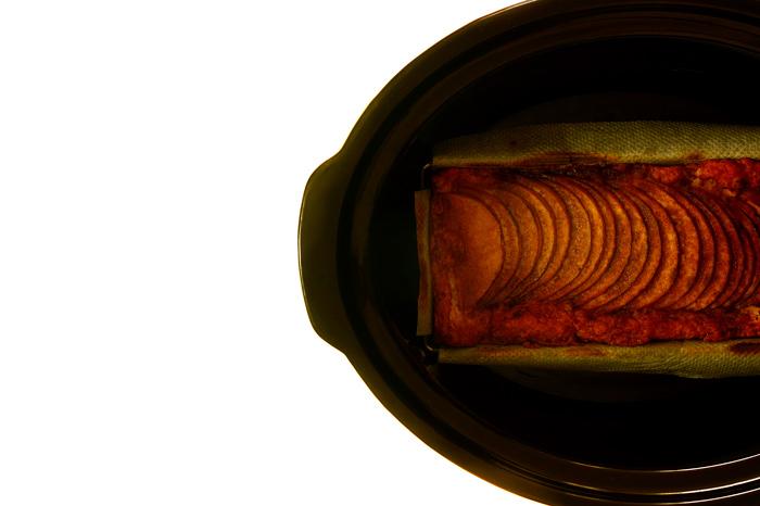 Bizcocho de manzana. Receta para Crock Pot
