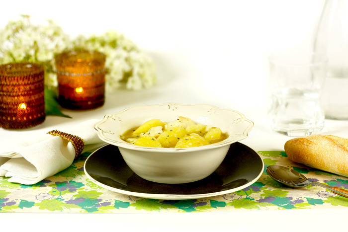 Patatas con bacalao. Recetas de cenas para crock pot