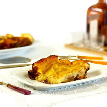 Pudin de pan, chocolate y naranja en Crock Pot