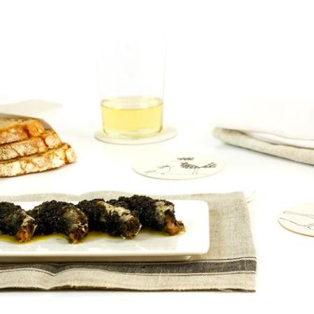 Sardinas con tapenade. Recetas de cenas para crock pot