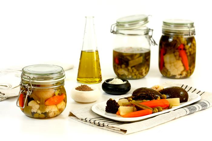Verduras encurtidas. Recetas de cenas para crock pot