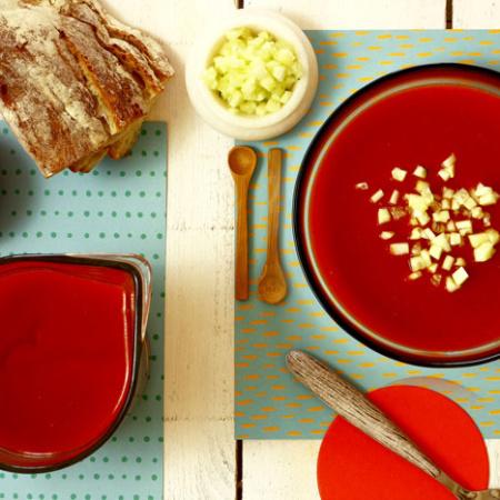 Gazpacho asado. Recetas de cenas para crock pot