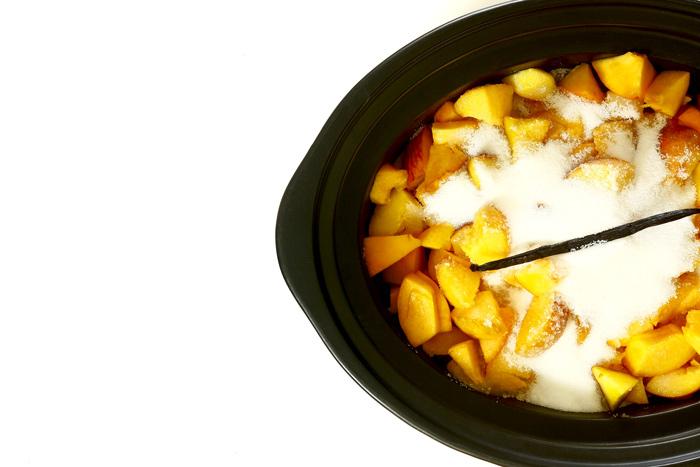 Mermelada de melocotón y vainilla. Receta para Crock Pot