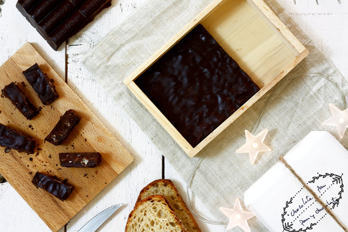 Turrón de pan con chocolate. Receta para Crock Pot
